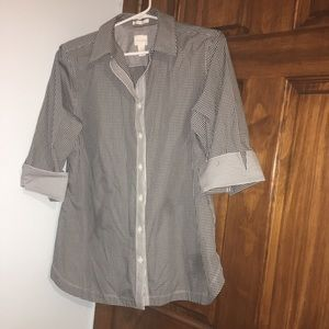 (Never-Worn) Chico's checkered Blouse